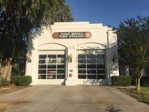 Port Royal Fire Station, South Carolina. Port Royal Fire Station, Port Royal, South Carolina Royalty Free Stock Image