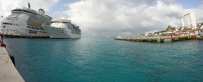 Port-Royal i Caraibi di Cozumel Fotografia Stock Libera da Diritti