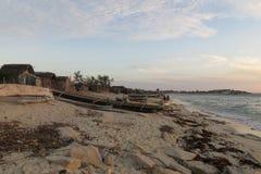 Port rural au Madagascar Photographie stock libre de droits