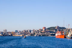 port russia vladivostok Royaltyfri Foto