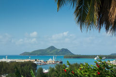 port s seychelles victoria royaltyfri bild