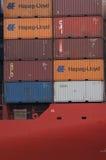 PORT-SAÏD /EGYPT le 2 janvier 2007 - le navire porte-conteneurs New Delhi Photos stock