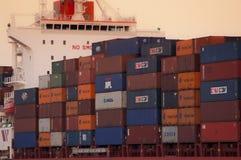 PORT-SAÏD /EGYPT le 2 janvier 2007 - le navire porte-conteneurs New Delhi Images stock