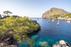 Port Sa Calobra on Mallorca, Spain Royalty Free Stock Image