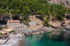 Port Sa Calobra, Mallorca, Spanien arkivfoton