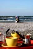 Port Said beach Royalty Free Stock Photo