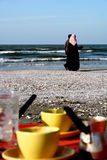 Port Said beach Royalty Free Stock Photography