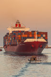 PORT SAID/EGYPT 02nd JANUARY 2007 - The Container Ship New Delhi Stock Photos