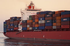 PORT SAID/EGYPT 02nd JANUARY 2007 - The Container Ship New Delhi Royalty Free Stock Images