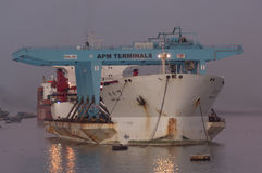 PORT SAID/EGYPT 02nd JANUARY 2007 - The Heavy Load Carrier Zhen Royalty Free Stock Photography
