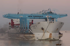 PORT SAID/EGYPT 02nd JANUARY 2007 - The Heavy Load Carrier Zhen Stock Photography