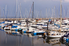 Port with sailing ships in kühlungsborn Royalty Free Stock Photography
