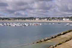 Port of Saint-Cast-le-Guildo in France Stock Photos