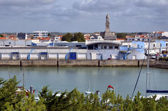 Port of Saint-Gilles-Croix-de-Vie in France Royalty Free Stock Images