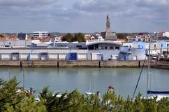 Port of Saint-Gilles-Croix-de-Vie in France Royalty Free Stock Images