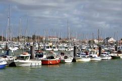 Port of Saint-Gilles-Croix-de-Vie in France Royalty Free Stock Image