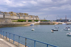 Port of Saint-Malo in France Stock Images