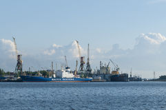 Port of Saint Petersburg Royalty Free Stock Photography