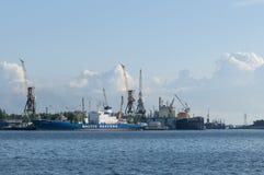 Port of Saint Petersburg royalty free stock photography