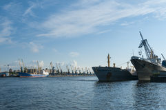 Port of Saint Petersburg royalty free stock photos
