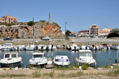Port of Saint-Pierre-de-la-Mer in France Stock Photo