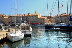 Port of Saint-Tropez in France Stock Photo