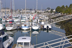 Port of Saint-Vaast-la-Hougue in France Stock Photography