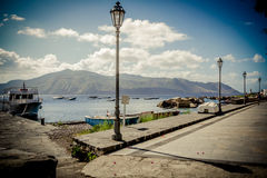 Port of Salina, Aeolian Islands Stock Photos