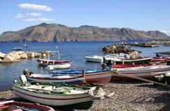 Port on Salina, Italy Royalty Free Stock Photography