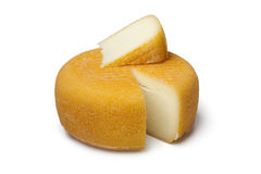 Port salut cheese with a slice Royalty Free Stock Image
