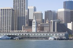 Port of San Francisco. The Port of San Francisco seen from the bay Stock Image