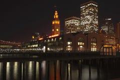 Port of San Francisco, Embarcadero at night Royalty Free Stock Photography