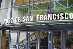 Port of San Francisco entrance Stock Image