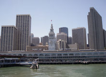 Port of San Francisco Ferry building and cityscape Royalty Free Stock Image
