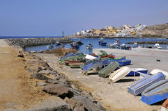 Port of San Miguel del Tajao at Tenerife Royalty Free Stock Photo
