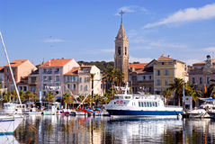 Port of Sanary in France royalty free stock images