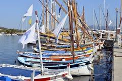Port of Sanary-sur-Mer in France stock image