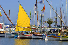 Port of Sanary-sur-Mer in France royalty free stock image
