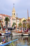Port of Sanary-sur-Mer in France Stock Photos