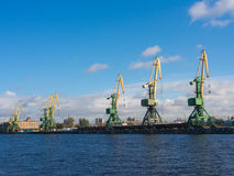 In the port of Sankt-Peterburg Stock Images