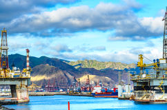 In the port of Santa Cruz, Tenerife. Stock Photos