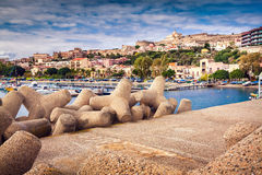 Port of Santa Maria Maggiore in Milazzo town Royalty Free Stock Images