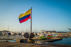 Port in Santa Marta, caribbean city, northern Stock Photo