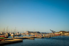Port in Santa Marta, caribbean city, northern Royalty Free Stock Images