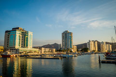 Port in Santa Marta, caribbean city, northern Stock Image