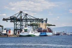 Port of Santos. Ship docked in port of Santos, Sao Paulo city, Brazil Stock Photos