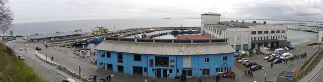 The port of Sassnitz on Ruegen, Germany 10.04.2014 Stock Images