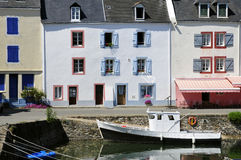 Port of Sauzon at Belle Ile in France Royalty Free Stock Photo