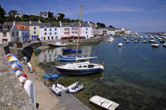 Port of Sauzon at Belle Ile in France Royalty Free Stock Photography
