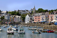 Port of Sauzon at Belle Ile in France Stock Photo